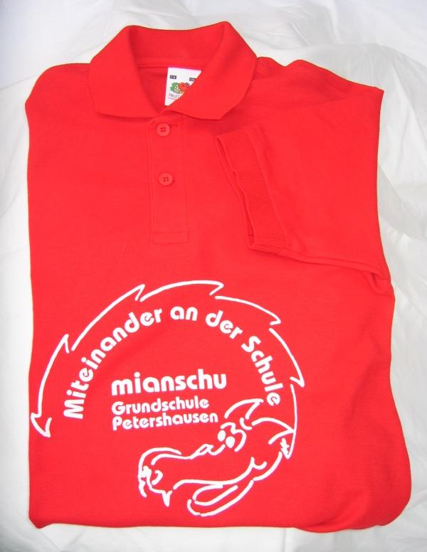 Polo-Shirt rot mit großem Mianschu