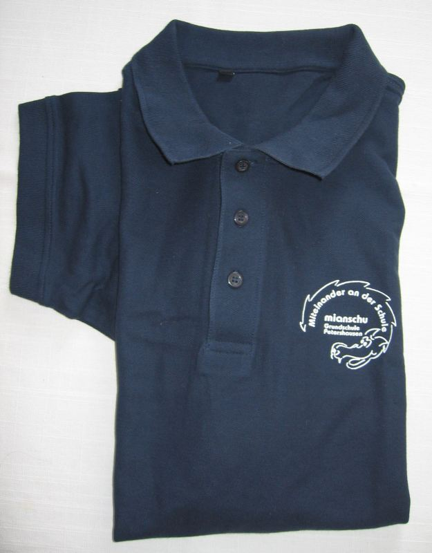 Polo-Shirt dunkelblau mit Mianschu
